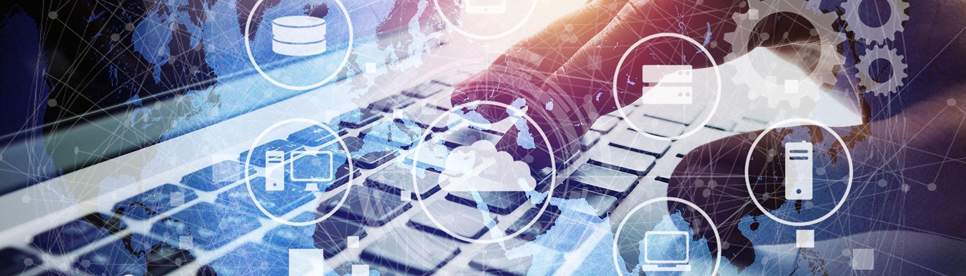 big data ordinateur, connexion, réseau